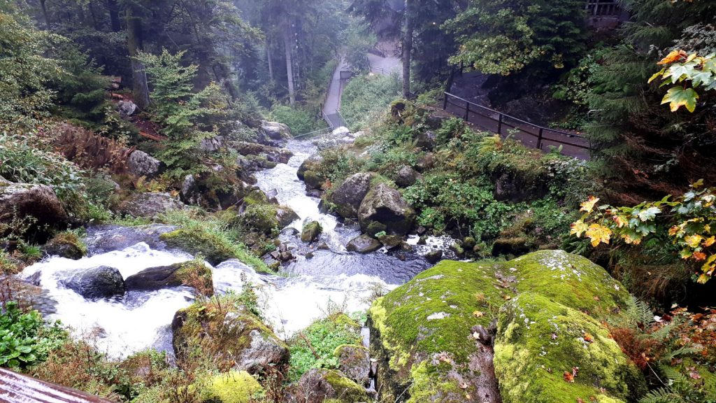 One of the seven cascades of the Triberg Wasserfall