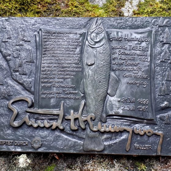 Ernest Hemmingway was here at the Triberg Waterfall