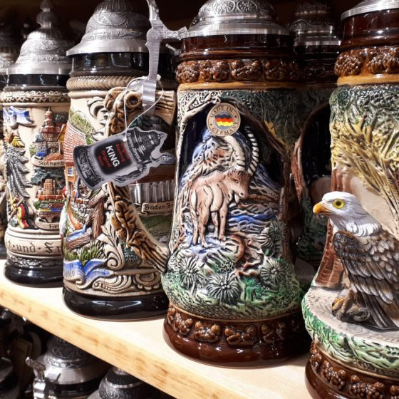 Bargain beer steins at just over 100 euros a go!