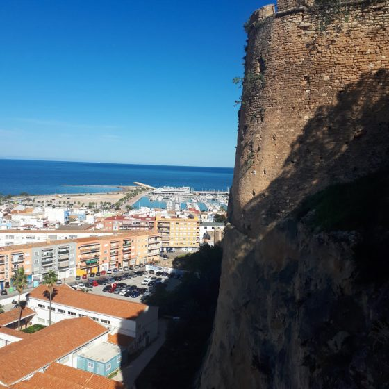 Denia castle view to the sea