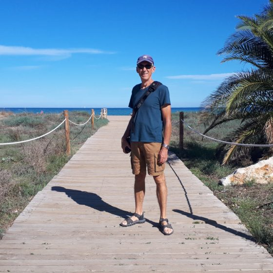 Denia's boardwalk to the beach