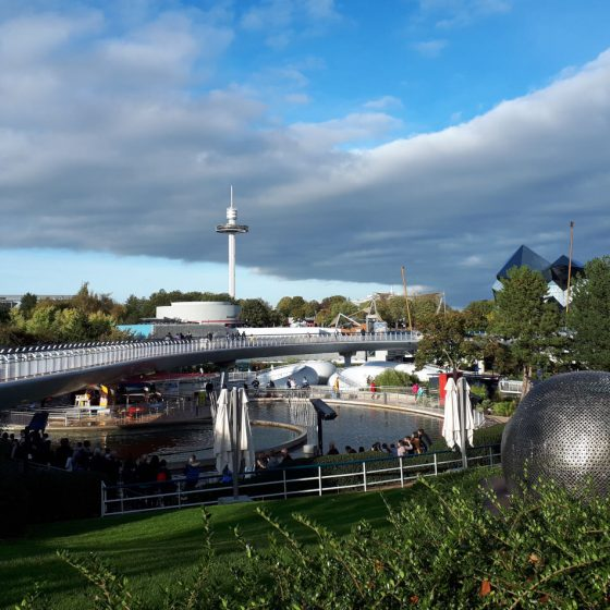 View of the Futuroscope park