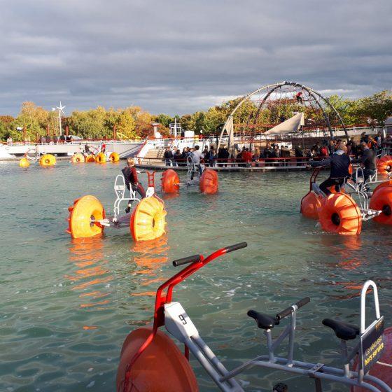 Giant water bikes