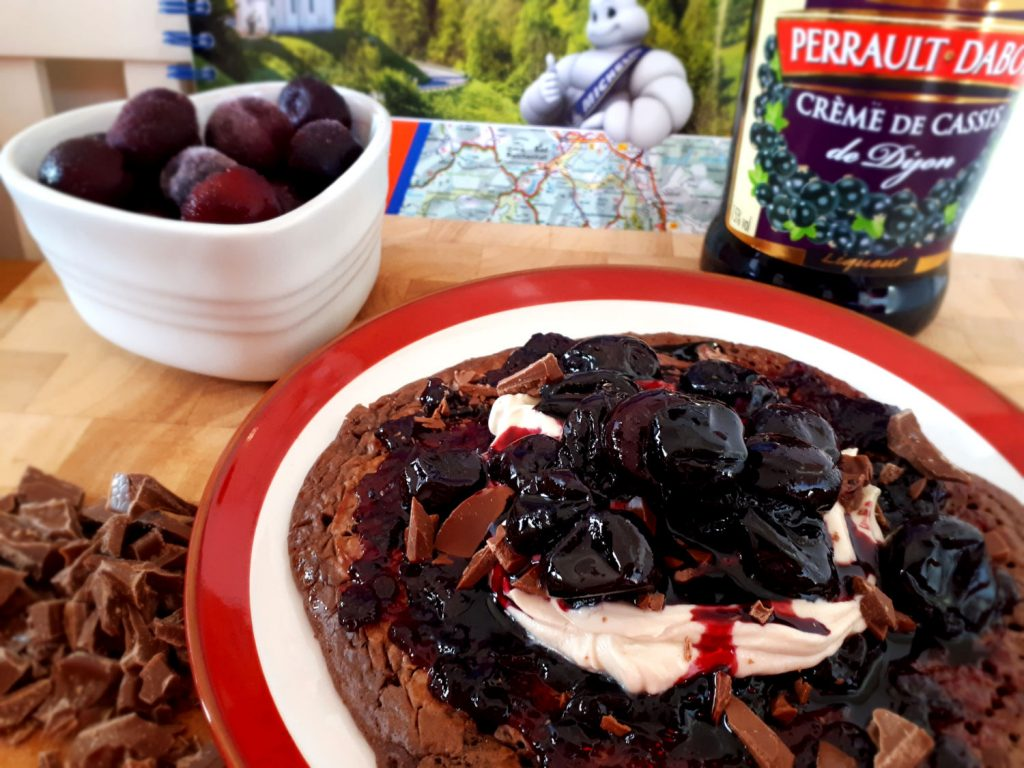 Deliciousness on a plate - Black Forest Gateau inspired vancakes.