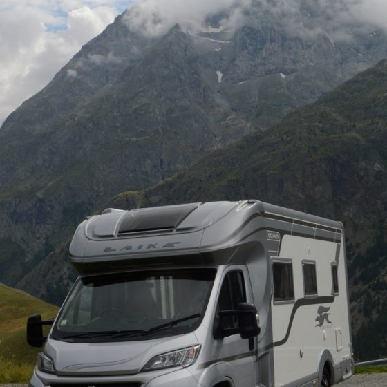 Buzz Laika parked in the French Alps