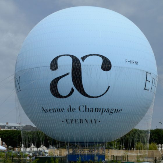 Tethered balloon Epernay the heart of the Champagne region