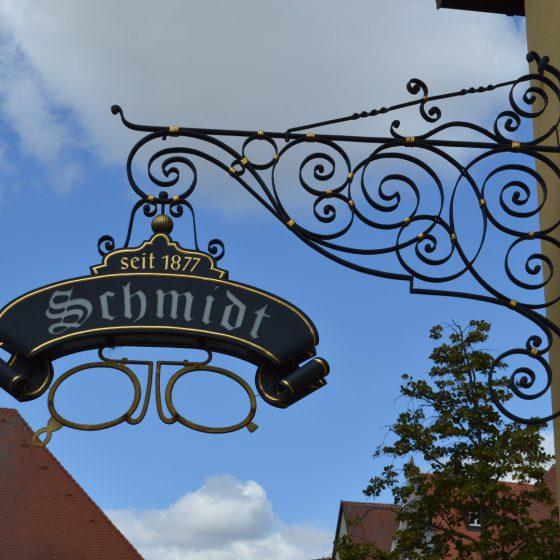 Typical shop sign in Dinkelsbuhl