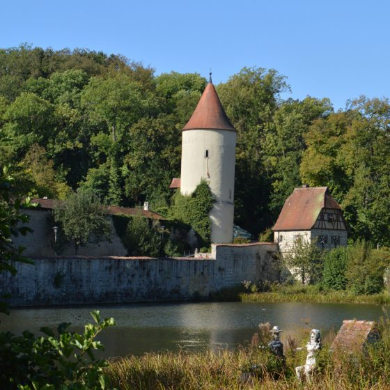 Dinkelsbuhl lake and city wall